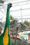"Minnesota, USA, Minneapolis, LEGO Dinosaurs in the ""Mall of America"" in Minneapolis November 2006"