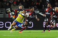 Mosese RATUVOU - 28.12.2014 - Lyon Olympique / Clermont - 14eme journee de Top 14 <br /> Photo :  Jean Paul Thomas / Icon Sport