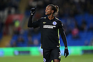 Gaetan Bong of Brighton & Hove Albion looks on.EFL Skybet championship match, Cardiff city v Brighton & Hove Albion at the Cardiff city stadium in Cardiff, South Wales on Saturday 3rd December 2016.<br /> pic by Andrew Orchard, Andrew Orchard sports photography.