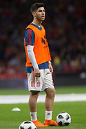 Marco Asensio of Spain warms up before the International friendly game football match between Spain and Argentina on march 27, 2018 at Wanda Metropolitano Stadium in Madrid, Spain - Photo Rudy / Spain ProSportsImages / DPPI / ProSportsImages / DPPI