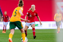 OSLO, NORWAY - Tuesday, September 22, 2020: Norway's Amalie Vevle Eikeland during the UEFA Women's Euro 2022 England Qualifying Round Group C match between Norway Women and Wales Women at the Ullevaal Stadion. Norway won 1-0. (Pic by Vegard Wivestad Grøtt/Propaganda)