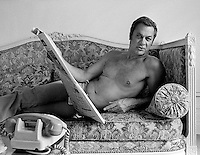 Actor Tony Curtis photographed in Paris in 1973 by Terry Fincher