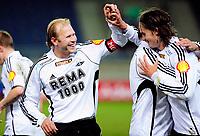 08.03.09 Fotball eliteserien (treningskamp) stavanger stadion Viking - Rosenborg<br /> Mikael Dorsin gratulere Mikael Lustig