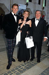 Left to right, TIM HADCOCK-MACKAY, MARIE-CLAIRE BARONESS VON ALVENSLEBEN and PETER HARRISON at a tribute to Luciano Pavarotti in aid of the British Red Cross held at The Guildhall, City of London on 6th June 2005<br />NON EXCLUSIVE - WORLD RIGHTS