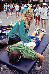 Runner Getting Massage, Boston Marathon 1991