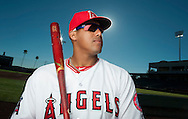 Yunel Escobar poses during the Angels' Photo Day at Spring Training in Tempe, AZ on Tuesday, February 21, 2017. (Photo by Kevin Sullivan, Orange County Register/SCNG)