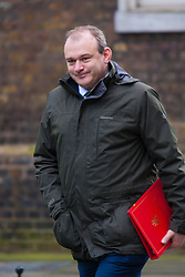 London, March 10th 2015. Ministers arrive at the weekly cabinet meeting at 10 Downing Street. PICTURED: Secretary of State for Energy and Climate Change, Ed Davey.