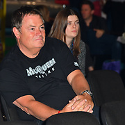Mike Brewer of Drivetribe team - Sketch off competition at the London Motor & Tech Show opening day on 16 May 2019, at Excel London, UK.