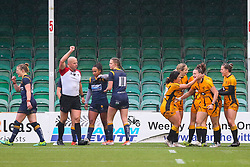 Wasps Ladies players celebrate a second half try - Mandatory by-line: Nick Browning/JMP - 24/10/2020 - RUGBY - Sixways Stadium - Worcester, England - Worcester Warriors Women v Wasps FC Ladies - Allianz Premier 15s