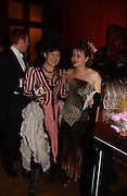 Helen McCrory and helena Bonham Carter, Belle Epoche gala fundraising dinner. National Gallery. 16 March 2006. ONE TIME USE ONLY - DO NOT ARCHIVE  © Copyright Photograph by Dafydd Jones 66 Stockwell Park Rd. London SW9 0DA Tel 020 7733 0108 www.dafjones.com