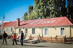 Vista de La Leona Hotel, perto de El Chalten, na província de Santa Cruz, Argentina. FOTO: Jefferson Bernardes/ Agência Preview