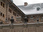 Details des Palais Schwarzenberg (tschechisch: Schwarzenbersky palac, auch Lobkovicky palac) auf dem Hradschin-Platz (Hradcanske namestí) der tschechischen Hauptstadt Prag. Am 13. Oktober 1601 nahm Tycho Brahe hier an einem Gastmahl teil und starb einige Tage danach. <br /> <br /> Detail of the Schwarzenberg Palace (Czech: Schwarzenbersky palac and also  Lobkovicky palac) at the Hradschin square in the Czech capital Prague. In this building Tycho Brahe was invited to a supper on the 13th of October 1601 and died a view days later.