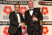 Manager of the Year South, Gary Johnson Torquay United collected  by George Edwards during the National League Gala Awards at Celtic Manor Resort, Newport, United Kingdom on 8 June 2019.