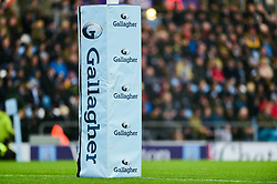 Gallagher Premiership post pads during the game - Mandatory by-line: Ryan Hiscott/JMP - 24/11/2018 - RUGBY - Sandy Park Stadium - Exeter, England - Exeter Chiefs v Gloucester Rugby - Gallagher Premiership Rugby