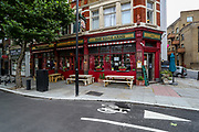 Pubs reopen today welcoming back customers for the first time after the COVID-19 lockdown in London, Saturday, July 4, 2020. England is embarking on perhaps its biggest lockdown easing yet as pubs and restaurants have the right to reopen for the first time in more than three months. (VXP Photo/ Vudi Xhymshiti)