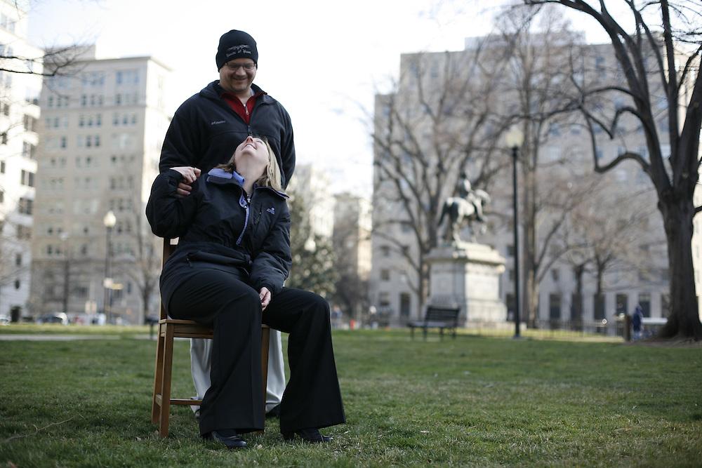 Washington, Feb. 25, 2008 - Missy Eggebrecht, Auditor, Dept. of Defense and Jamie Portell, IT, Dept. of Defense.