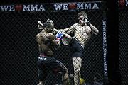 Kampfsport: MMA, We love MMA, Oberhausen, 31.01.2015<br /> Mohamad Grabinski (Pride Gym Duesseldorf, r.) - Gary Kono (Ronin MMA Leverkusen)<br /> © Torsten Helmke