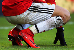 The personalised Nike boots worn by Alexis Sanchez of Manchester United - Mandatory by-line: Matt McNulty/JMP - 11/02/2018 - FOOTBALL - St James Park - Newcastle upon Tyne, England - Newcastle United v Manchester United - Premier League