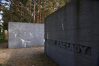 The entrance to the Trebinka Memorial.