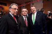 """11 JAN 2010, KOELN/GERMANY:<br /> Frank Stoehr (L), 1. Vorsitzender Tarifunion, Dr. Thomas de Maiziere (M), CDU, Bundesinnenminister, Peter Heesen (R), Bundesvorsitzender Deutscher Beamtenbund, Jahrestagung """"Europa nach Lissabon - Fit fuer die Zukunft?"""", Messe Koeln<br /> dbb Jahrestagung """"Europa nach Lissabon - Fit fuer die Zukunft?"""", Messe Koeln<br /> IMAGE: 20100111-01-059<br /> KEYWORDS: Frank Stöhr"""