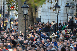 Crowds during the annual Remembrance Sunday Service at the Cenotaph memorial in Whitehall, central London, held in tribute for members of the armed forces who have died in major conflicts.