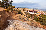 USA, Utah, Bryce Canyon National Park, horse trail at Sunrise Point