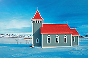 Historic St. Nicholas Anglican Church in the Qu' Appelle Valley<br /> Craven<br /> Saskatchewan<br /> Canada