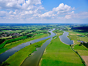 Nederland, Gelderland, Gemeente Olst-Wijhe, 21–06-2020; De Duursche Waarden,natuurontwikkelingsproject. In de uiterwaaard rechts de Keizersrande, biologische boerderij.  In het kader van het projectRuimte voor de rivieris eenhoogwatergeulaangelegd<br /> De Duursche Waarden, nature development project. A high-water channel has been constructed as part of the Room for the River project.<br /> <br /> luchtfoto (toeslag op standaard tarieven);<br /> aerial photo (additional fee required)<br /> copyright © 2020 foto/photo Siebe Swart