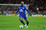 Arouna Kone of Everton in action.   Barclays Premier League match, Stoke city v Everton at the Britannia Stadium in Stoke on Trent , Staffs on Wed 4th March 2015.<br /> pic by Andrew Orchard, Andrew Orchard sports photography.