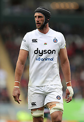 Bath's Luke Charteris during the Aviva Premiership match at Welford Road, Leicester.
