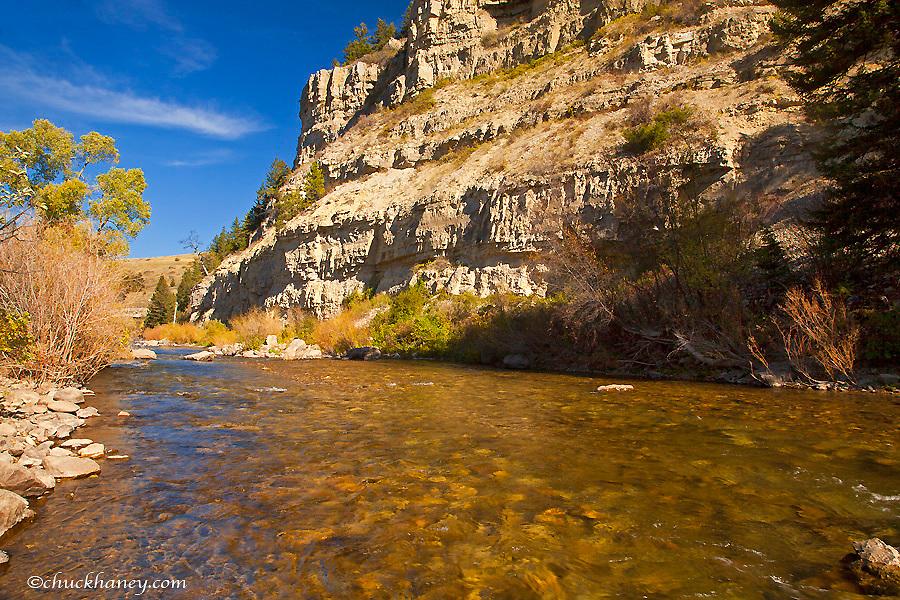 Belt Creek runs through Sluice Boxes State Park near Monarch, Montana, USA
