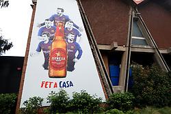 Barcelona players in an advert for Estrella Damm