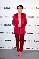 *EMBARGOED UNTIL 22:30 Tuesday 6th June 2017* Emma Willis with the TV Personality Award in the press room at the Glamour Women of the Year Awards 2017, Berkeley Square Gardens, London.