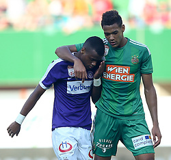 07.08.2016, Ernst Happel Stadion, Wien, AUT, 1. FBL, FK Austria Wien vs SK Rapid Wien, 3. Runde, im Bild Felipe Pires (FK Austria Wien) und Joelinton Cassio Apolinario de Lira (SK Rapid Wien) // during Austrian Football Bundesliga Match, 3rd Round, between FK Austria Vienna and SK Rapid Vienna at the Ernst Happel Stadion, Vienna, Austria on 2016/08/07. EXPA Pictures © 2016, PhotoCredit: EXPA/ Thomas Haumer