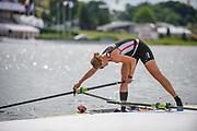 Poznan,  POLAND,  Thursday, 16/06/2016. DEN W1X, Fie Udby ERICHSEN,  Boating,Checking her gate,  FISA World Cup III, Malta Lake.[Mandatory Credit; Peter SPURRIER/Intersport-images]