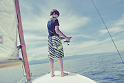 Sailing on Flathead Lake with Sam and Emily Barker, Grant Gibson, and Sugar