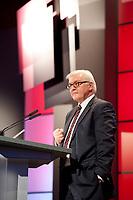 11 JAN 2011, KOELN/GERMANY:<br /> Frank-Walter Steinmeier, SPD Fraktionsvorsitzender, waehrend seiner Rede, 52. Jahrestagung dbb beamtenbund und tarifunion, Congress-Centrum Nord Koelnmesse<br /> IMAGE: 20110111-01-092<br /> KEYWORDS: Köln