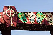 Howard Finster style Folk art decoration at the House of Blues at Main Street Disney World in Lake Buena Vista, Florida.