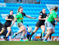 Ellie Green of Harlequins clears - Mandatory by-line: Andy Watts/JMP - 06/02/2021 - Sandy Park - Exeter, England - Exeter Chiefs Women v Harlequins Women - Allianz Premier 15s