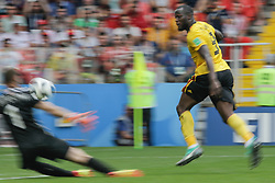 June 23, 2018 - Moscou, VAZIO, Russia - Ukaku Romelu of Belgium scores goal during Belgium vs Tunisia match valid for the second round of Group G of the 2018 World Cup, held at Spartak Stadium. Belgium wins over Tunisia with the score of 5-2. (Credit Image: © Thiago Bernardes/Pacific Press via ZUMA Wire)