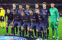 Football - 2016 / 2017 UEFA Champions League - Group A: Arsenal vs. Paris Saint - Germain<br /> <br /> Paris Saint - Germain team group at The Emirates.<br /> Back row l-r Grzegorz Krychowiak,Marquinhos, Thiago Silva, Thiago Mota,Thomas Meunier, Alphonse Areola<br /> Front . Edinson Cavani, Blaise Matuidi, Lucas, Maxwell, Marco Verratti.<br /> <br /> COLORSPORT/ANDREW COWIE