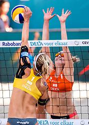 17-07-2018 NED: CEV DELA Beach Volleyball European Championship day 3<br /> Sophie van Gestel #1, Isabel Schneider #1 GER