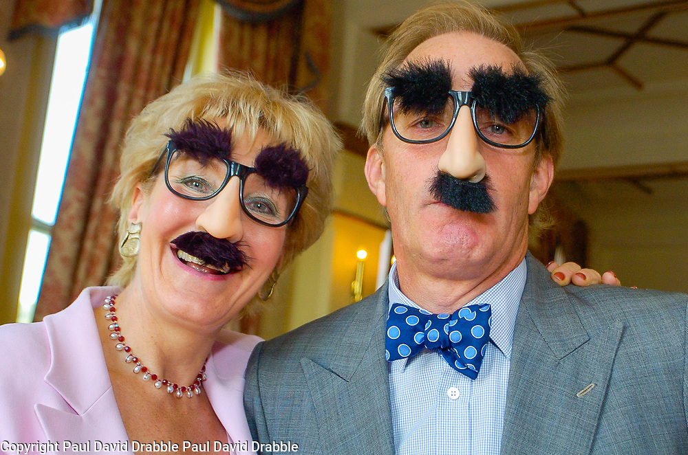 Christine and Neil Hamilton attend The Sheffield Telegraphs Literary Lunch in disguise at the Royal Victoria Hotel on 22nd September 2005 while promoting Christines Great British Battle Axes and FOR BETTER FOR WORSE: Her Story<br /> <br /> 22 September 2005<br /> <br /> Image Copyright Paul David Drabble<br /> 07831 853913<br /> www.pauldaviddrabble.co.uk