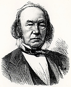 Claude Bernard (1813-1878) French physiologist who applied scientific method to medicine. Engraving from 'La Nature' (Paris, 1878).