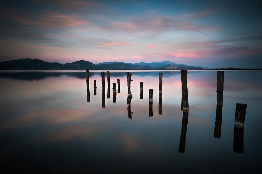 Twilight at Massaciuccoli lake. Tuscany, Italy<br /> Photo by Lorenz Berna
