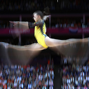 Larisa Andreea Iordache, Romania, in action in the  Gymnastics Artistic Women's Apparatus, Beam final at North Greenwich Arena during the London 2012 Olympic games London, UK. 7th August 2012. Photo Tim Clayton