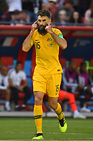 Mile JEDINAK (AUS),Gestik, Aktion,Einzelaktion,Einzelbild, Freisteller,Ganzkoerperaufnahme, ganze Figur. Frankreich (FRA)-Australien (AUS) 2-1, Vorrunde, Gruppe C, Spiel 5, am 16.06.2018 in Kasan,Kasan Arena. Fussball Weltmeisterschaft 2018 in Russland vom 14.06. - 15.07.2018. *** Mile JEDINAK AUS Gestik Action Single Action Single Image Cut Out Full Body Full Length France FRA Australia AUS 2 1 Preliminary Group C Match 5 on 16 06 2018 in Kazan Kazan Arena Soccer World Cup 2018 in Russia from 14 06 15 07 2018