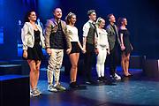 Première theatervoorstelling drs. Down!in DeLaMar Theater, Amsterdam <br /> <br /> op de foto:  leden van Lucia Marthas Institute for Performing Arts