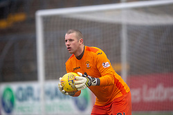 East Fife's keeper Daniel Terry. Forfar Athletic 3 v 0 East Fife, Scottish Football League Division One game played 2/3/2019 at Forfar Athletic's home ground, Station Park, Forfar.