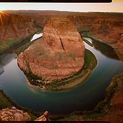 Horseshoe Bend Sunset, Page, Arizona. 4x5 Kodak Ektar 100. photo by Nathan Lambrecht